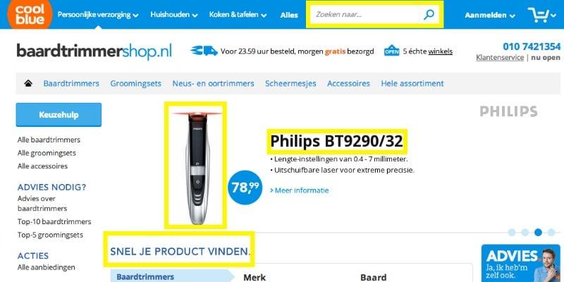 UX design voor de productgerichte shopper