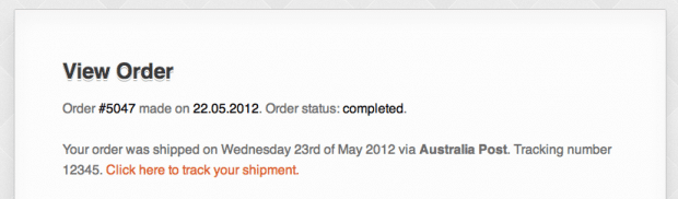 Shipment Tracking WooCommerce extensie