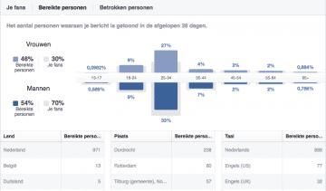 Gebruik Facebook statistieken voor je online strategie