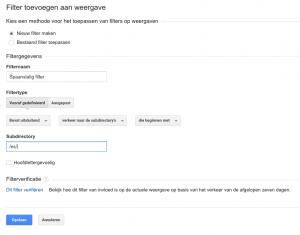 Filter voor talen aanmaken