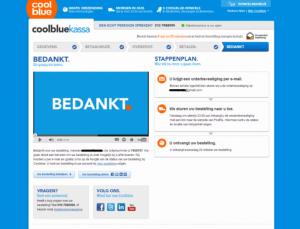 Bedanktpagina CoolBlue zorgt voor goede online klantbeleving