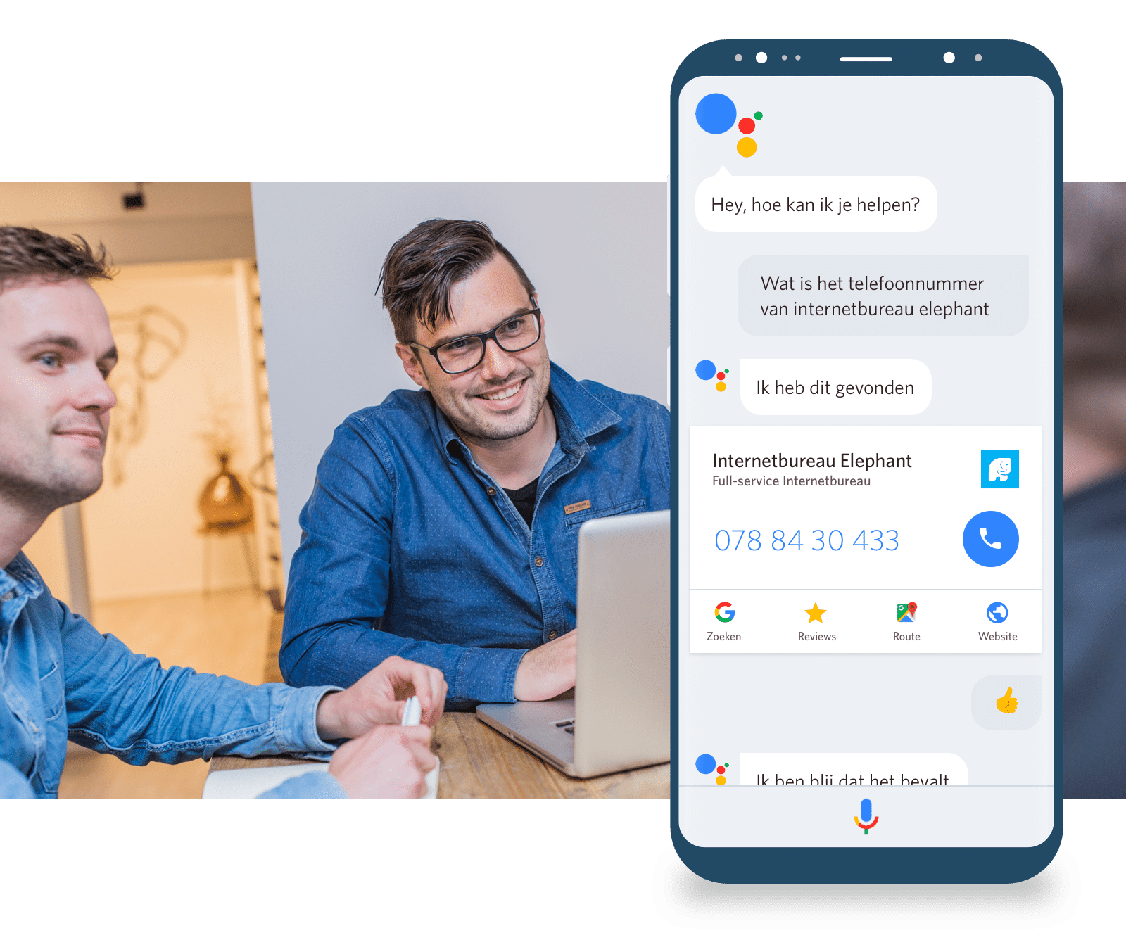 elephant google voice assistent