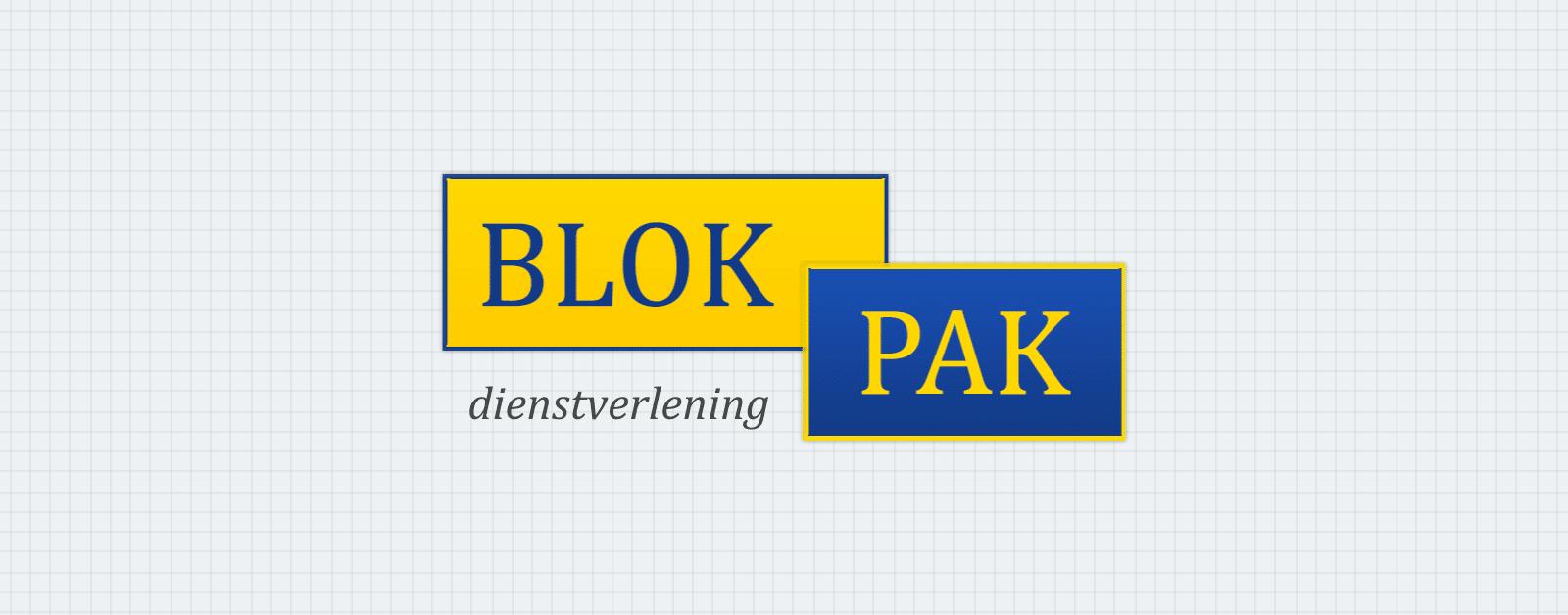 Afbeelding van het Blokpak logo