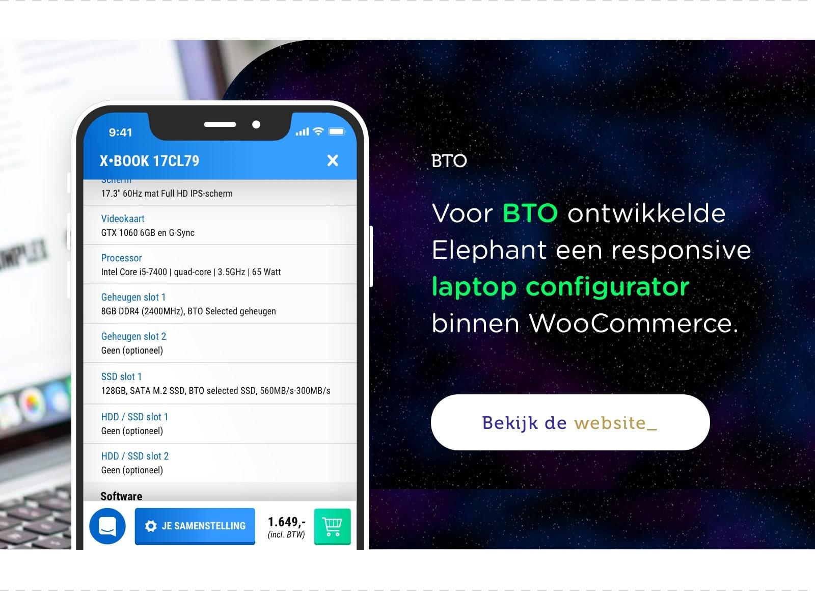 BTO laptop configurator
