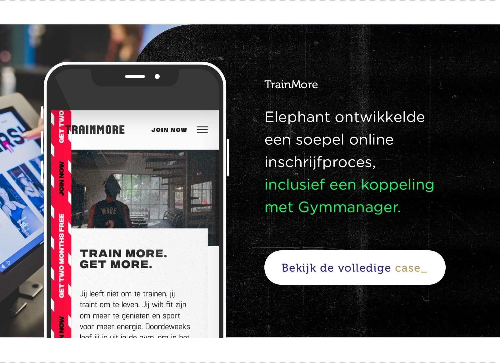 Elephant case voor TrainMore